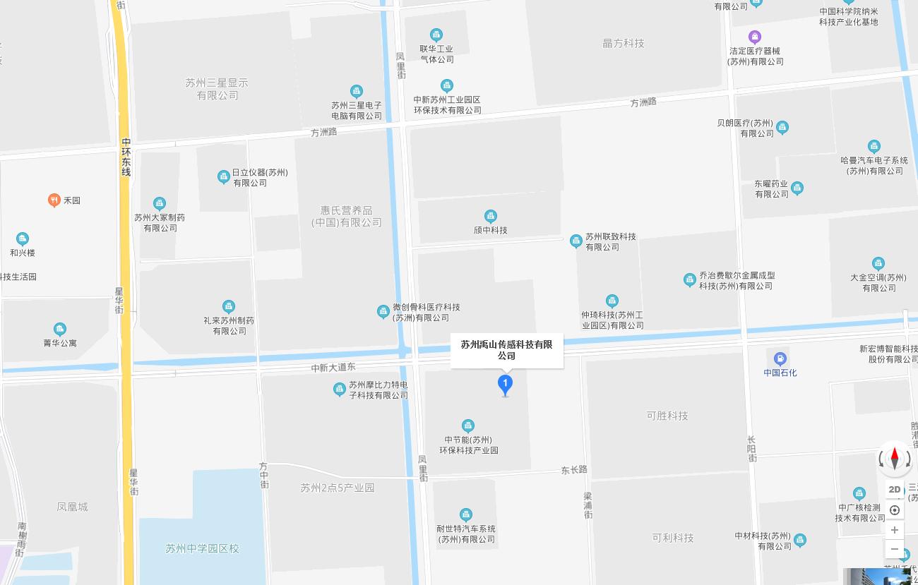 苏州禹山传感地图