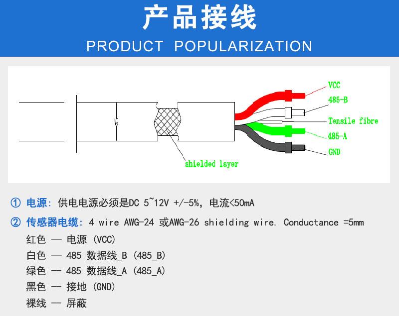 叶绿素传感器产品接线