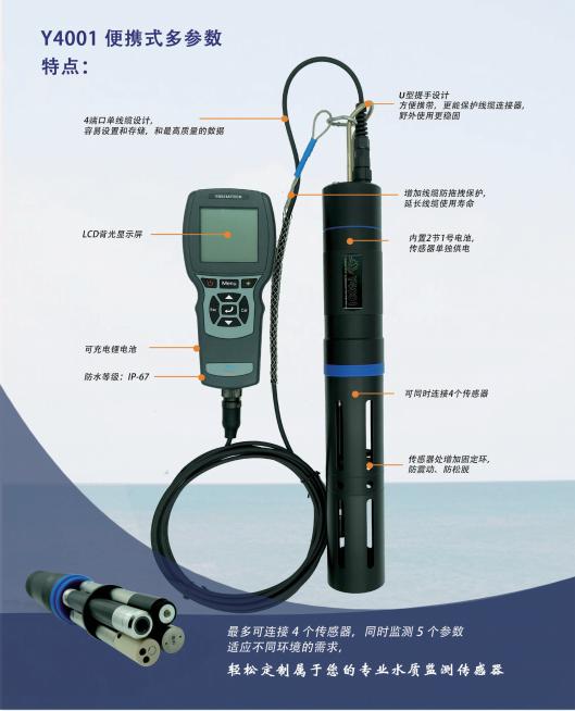 手持多参数水质传感器